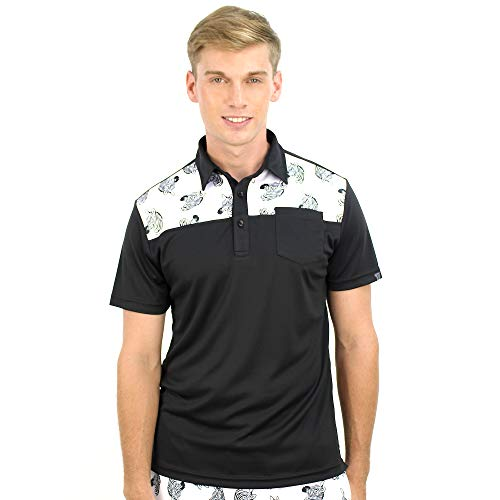 Classic Tennis Polo - SAVALINO Men's Tennis Short Sleeve Polo Shirts Classic Zebra Print Sport Clothe S Black/Zebra