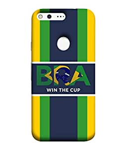 ColorKing Football Brazil 27 Multicolor shell case cover for Google Pixel XL