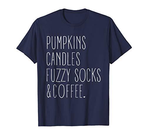 Pumpkins Candles Fuzzy Socks & Coffee Shirt Autumn Gift (Socks Pumpkin)