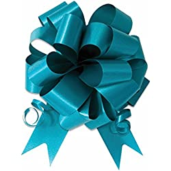 "Nicky Bigs Novelties 10-5"" Turquoise Blue Pull Bow Pew Bows Wedding Decorations Wrap"