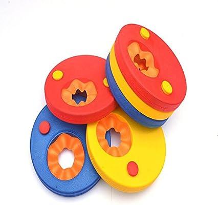 mmtop 6pcs discos de natación brazo bandas flotador de espuma EVA espuma de bebé y niños natación aprendizaje Float