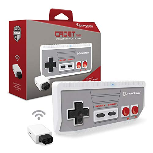 "Hyperkin ""Cadet"" Premium BT Controller for NES/ PC/ Mac/ Android (Includes Wireless Adapter)"