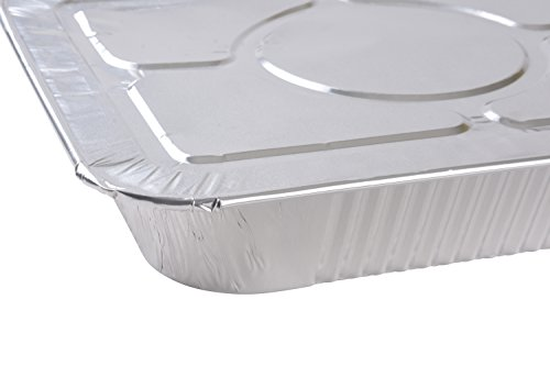 A World of Deals 9 X 13 Half Size Deep Foil Steam Pans with Lids, 30 Pack by A World Of Deals (Image #1)
