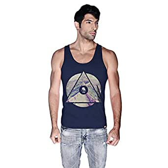 Creo China Wall Tank Top For Men - M, Navy Blue