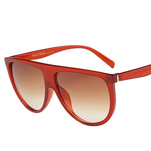 Sunglasses, Mchoice Fashion Unisex Vintage Shaded Lens Thin Glasses Fashion Aviator Mirror Lens Sunglasses (F)