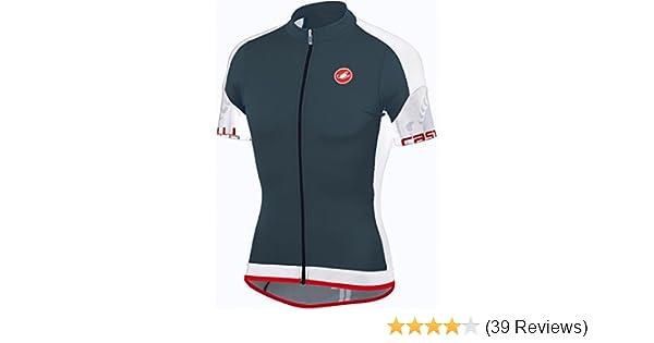 Amazon.com   Castelli 2015 Men s Entrada Full Zip Short Sleeve Cycling  Jersey - A14017 (turbulence white - S)   Sports   Outdoors 85dadc6b5