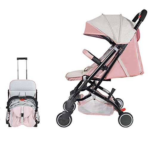 $278.45 Target Infant Car Seats Lightweight Baby Stroller Four Wheel Pushchair with One Hand Fold Buggy with Safe Five-Point Harness and Brake,Lying Position,Adjustable Push Handle, from Birth to 25 Kg (Color : Pink) 2019