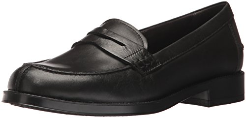 Loafer Women's Penny Push Black Aerosoles Ups Leather IqPaMzZwZf