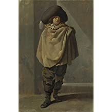 Oil painting 'Pieter Quast A Standing Man ' printing on polyster Canvas , 16 x 24 inch / 41 x 61 cm ,the best Home Office artwork and Home decor and Gifts is this Best Price Art Decorative Canvas Prints