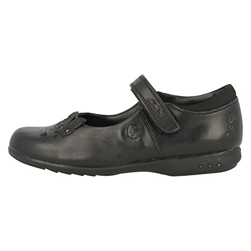 Black Infant Shoe Run Girls Leather Clarks Trixi School TgY4Cq