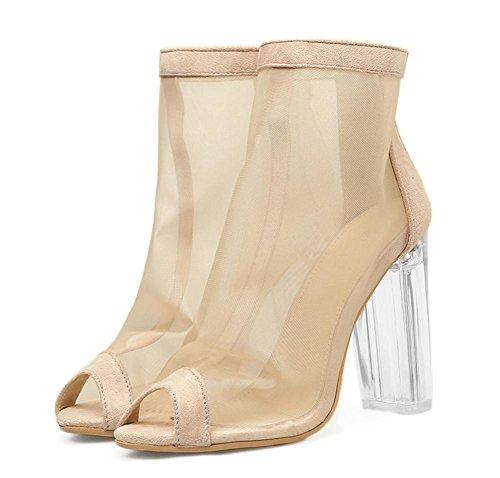 Spessore Discoteca Scarpe Donna Stivali 36 Vestito 3 Di Tacco Lavoro Trasparente Sandali Cristallo 5 Uk 4 Nero Eur Alto Festa Netto Sexy Z88qwFnX