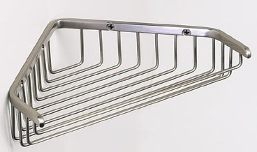 Corner Shower Shelf in Satin Nickel Size: 9.25