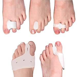 COMPRESSX 10 Piece Set Dedo y Splint Separator Relief Bunions - bunion corrección/separador juanetes/juanete para el dolor de pie, Metatarsus y mucho más!