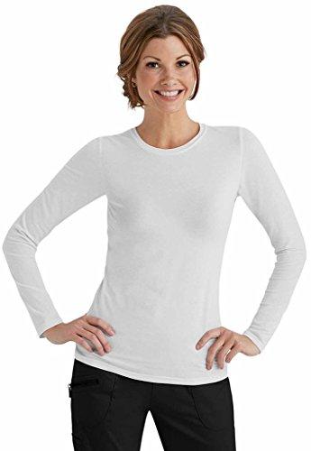 Beyond Scrubs Women's Long Sleeve Tee S White