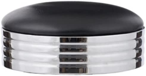 Royal Industries Bar Stool Replacement Seat, Black W Chrome Band
