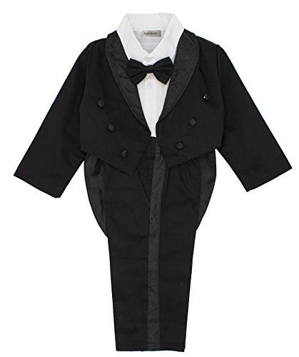 stylesilove Kid Baby Boy Tuxedo Wedding 3-Piece Outfit (90/18-24 Months) by stylesilove
