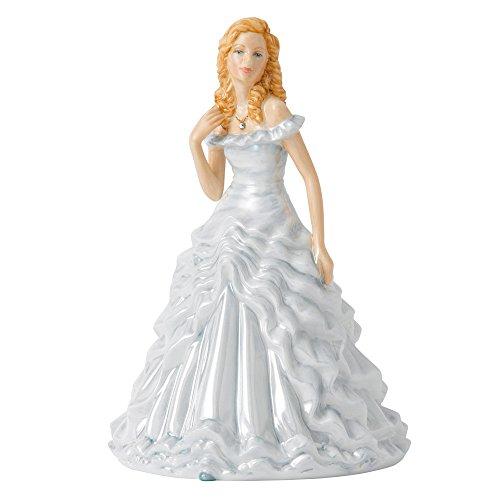 (Royal Doulton BISTPT26519 Birthstone Petites April Figurine, 6.7