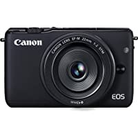 Canon EOS M10 Mirrorless Digital Camera with 22mm Lens (Black) - International Version (No Warranty)