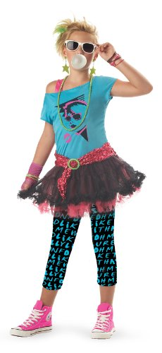 80s Valley Girl Kids Costume (Eighties Costumes For Girls)
