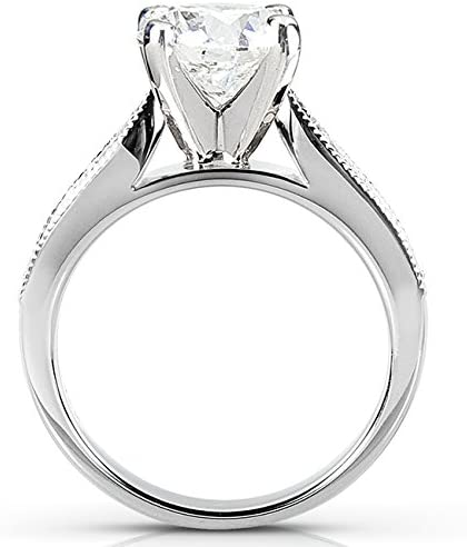 Kobelli Round Moissanite Pave-Set Bridal Set 1 4/5 CTW 14k White Gold