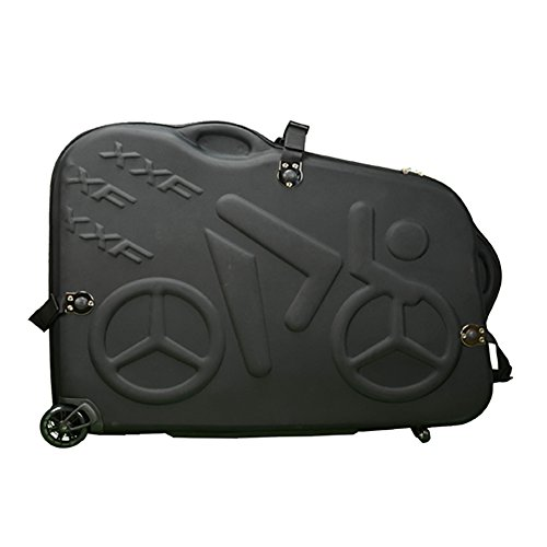 Hepburn's EVA Bike Travel Case for 26''/700C/27.5'' Mountain Road Bicycle Travel Transport Equipment Black by Hepburn's