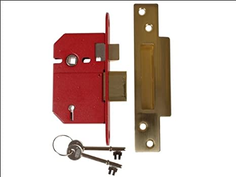 Union Locks Strongbolt 2200S BS 5-Lever Mortice Sash Lock 68mm - Satin Chrome (Boxed) UNNJ2200SC25