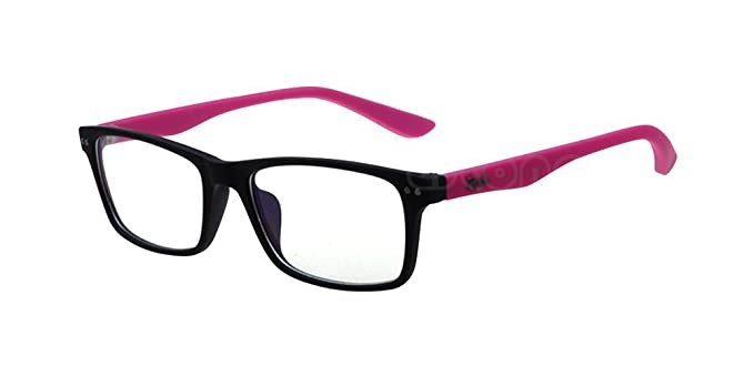 Hot Pink Anti-radiation Goggles Sports Eyeglass Clear Bow Lens Rim Myopia Glasses Frame