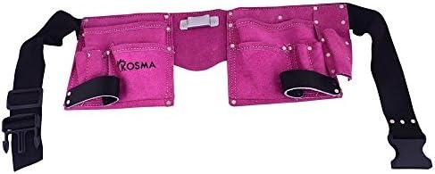 Kosma 5 Pocket D.I.Y Sch/ürze aus Leder Elektrikertasche Werkzeugg/ürtel Nageltasche