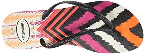 Femme 0128 Havaianas Hav Tongs Tribal Slim black Multicolore q0B0IR