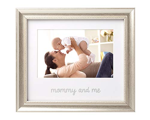 (Lil Peach Mommy and Me Keepsake Frame, The Perfect Gift for Mom, Silver)
