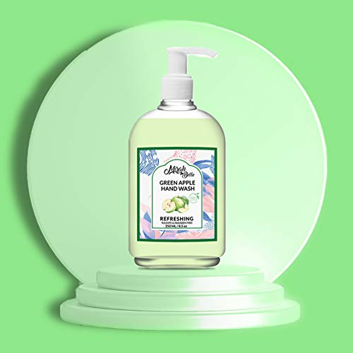 Mirah Belle – Green Apple Hand Wash (250 ML) – FDA Approved – Best for Men, Women and Children – Natural, Vegan, Cruelty Free – Sulfate and Paraben Free – 250ml