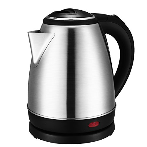 Amazon #LightningDeal 90% claimed: Stainless Steel Electric Kettle – 1500 Watt Cordless Electric Kettle with Auto Shut Off, Boil Dry & Overheating Protection, Food Grade Stainless Steel – 1.5 Liter Capacity