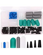130pcs High Temp Silicone Rubber End Cap and Tapered Stopper Plug Assortment Kit Powder Coating Paint Masking Supplies