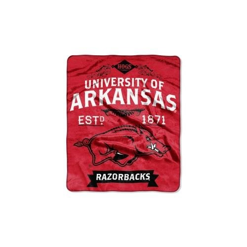 NCAA Arkansas Razorbacks College Label Raschel Throw, 50 x - Arkansas West North Mall