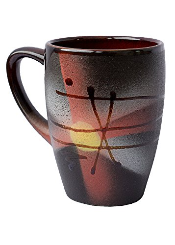 Handmade Coffee Mugs Pottery Japanese Style as a Perfect Gift Mug for Halloween Mom Dad Women Men Girlfriend Boyfriend Unique Coffee Mugs – Sunrise (13.3 fl oz, 400 ml) – Cupscho