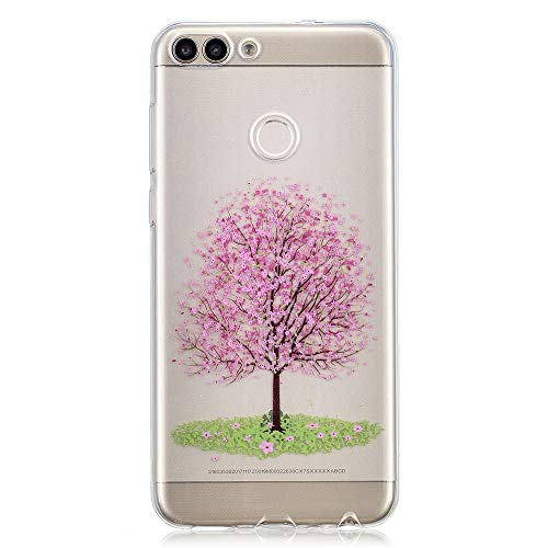 (Compatible Huawei Enjoy 7S Case, Ultra-Thin Anti-Drop Cellphone Case Premium Material Full Protection Slim Durable Cover, Specially Designed for Huawei Enjoy 7S Cherry Blossom Tree)