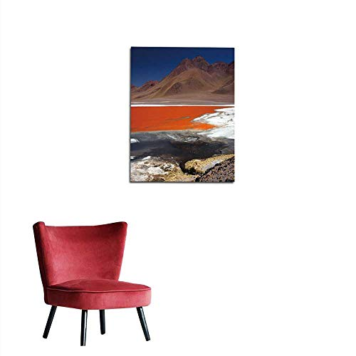 longbuyer Painting Post Flamingos at The Colourful Laguna Colorada on The Altiplano high Plateau Bolivia Mural 16