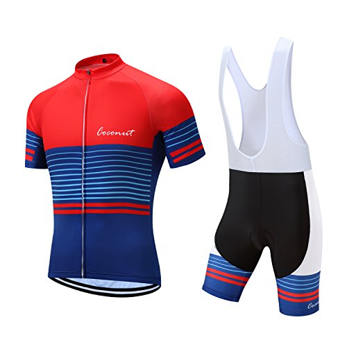 Coconut Pro Team Men's Cycling Jersey Bib Shorts With 3D Padded (XXXX-Large, - Bib Pro Shorts