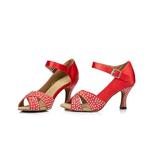 Miyoopark , Damen Tanzschuhe , Rot - Red-7.5cm Heel - Größe: 41