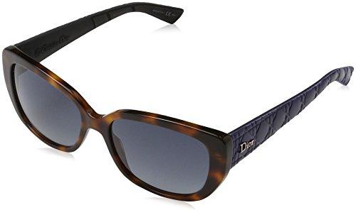 Dior Women DIOR LADY 2/R/S 55 Blue/Grey Sunglasses - Mirrored Sunglasses Celine
