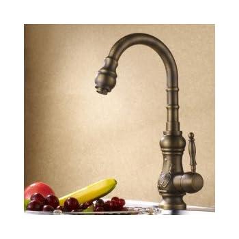 Antique Brass Kitchen Faucet (Antique Copper Finish