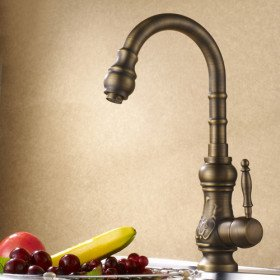 Antique Brass Kitchen Faucet Antique Copper Finish Touch On
