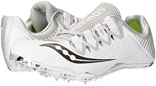 Saucony Women's Showdown 4 Track Shoe White/Silver 10 M US by Saucony (Image #6)