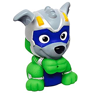 """Rocky Mighty Pups Charged Up Paw Patrol Bath Squirter 3"""""""