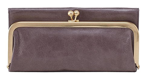 Hobo Womens Genuine Leather Vintage Rachel Clutch Wallet (Granite)
