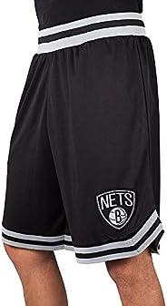 Ultra Game Men's NBA Basketball Active Woven Shorts Brooklyn Nets, Team Color, Me
