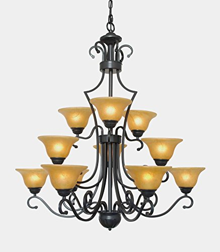 ier Large Foyer Entryway Lighting Country French 3 Tiers 12 Lights , , ht39 X wd36 Ceiling Fixture (Tier Foyer Pendant)