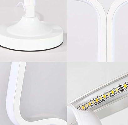 Lámpara de mesa de creatividad de LED, lámpara de escritorio acrílico de moda moderno, luz de noche para el cuidado oculares de Gradation de Stepless, lámpara de noche decorativa de diseño de