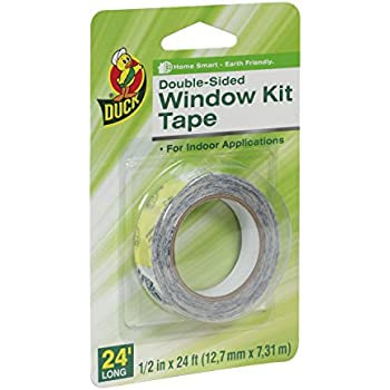 Duck Brand 281075 Double-Sided Indoor Replacement Tape for Window Kits, 0.5-Inch by 24-Feet, Single Roll