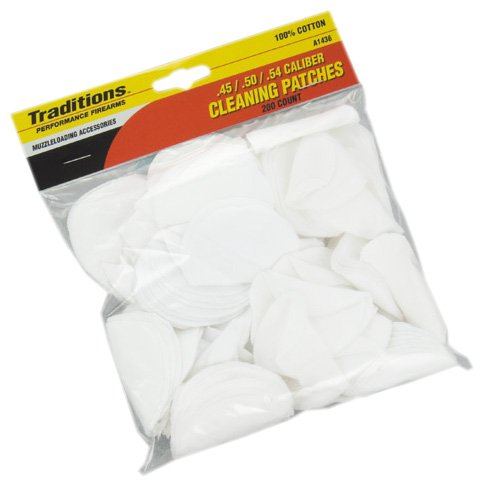 Traditions Performance Firearms Muzzleloader Cleaning Patches (.45, .50, .54 - Black Patch Powder
